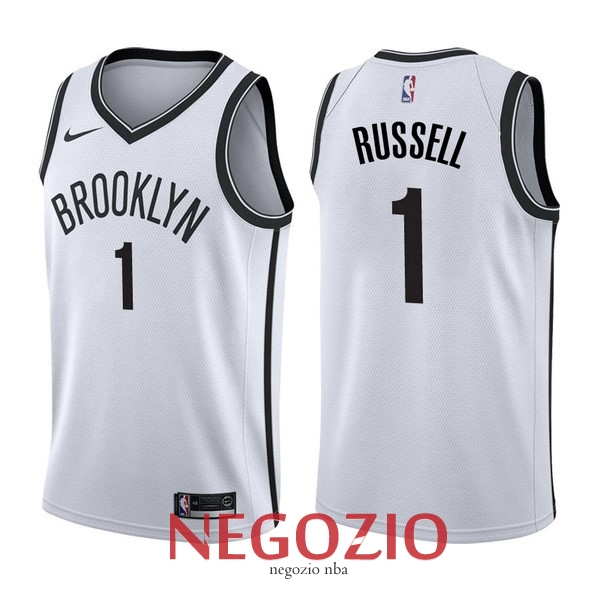 Migliori Maglia NBA Nike Brooklyn Nets NO.1 D'Angelo Russell Bianco Association