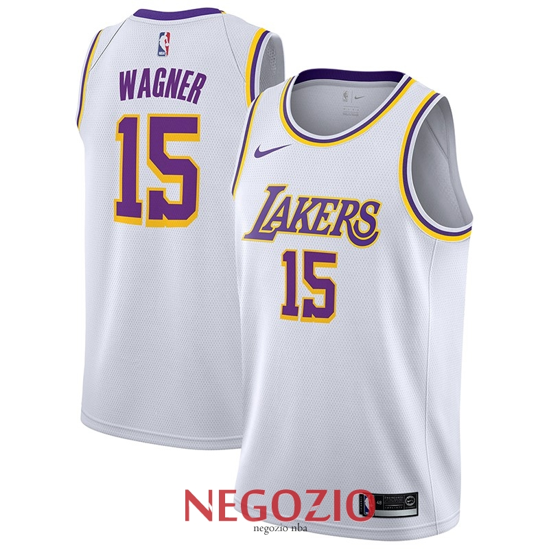 Migliori Maglia NBA Nike Los Angeles Lakers NO.15 Moritz Wagner Bianco Association 2018-19