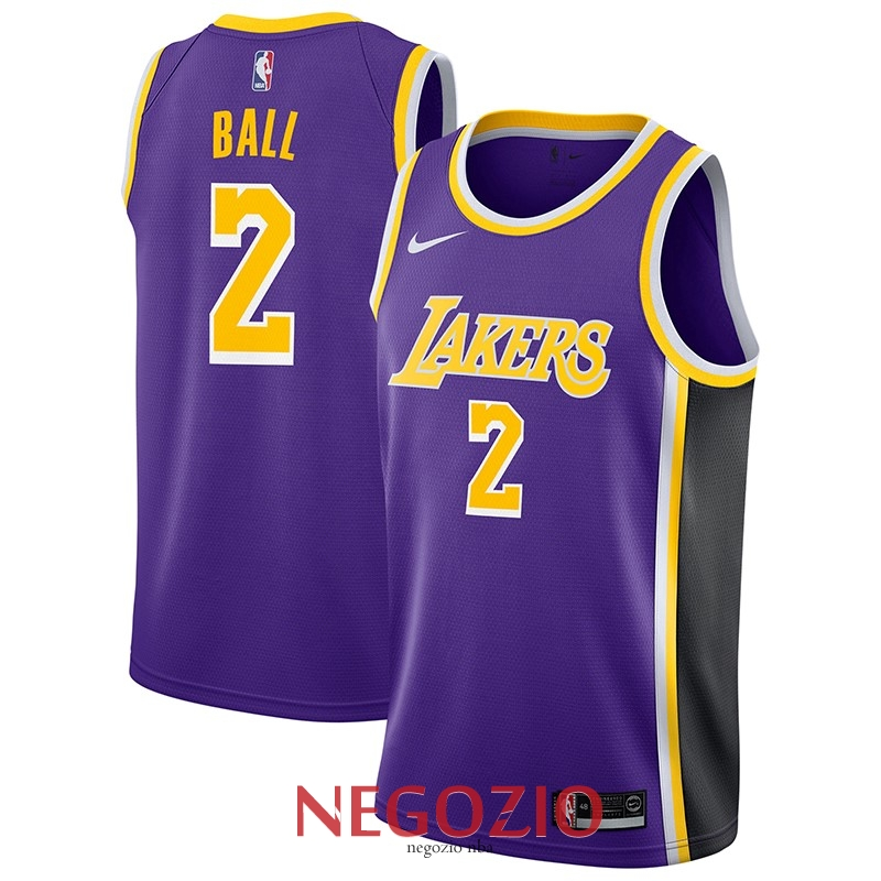 Migliori Maglia NBA Nike Los Angeles Lakers NO.2 Lonzo Ball Porpora  Statement 2018- a097a3421c2b