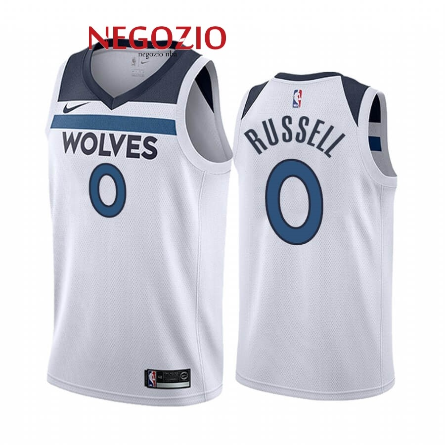 Migliori Maglia NBA Nike Minnesota Timberwolves NO.0 D'angelo Russell Bianco Association 2019-20