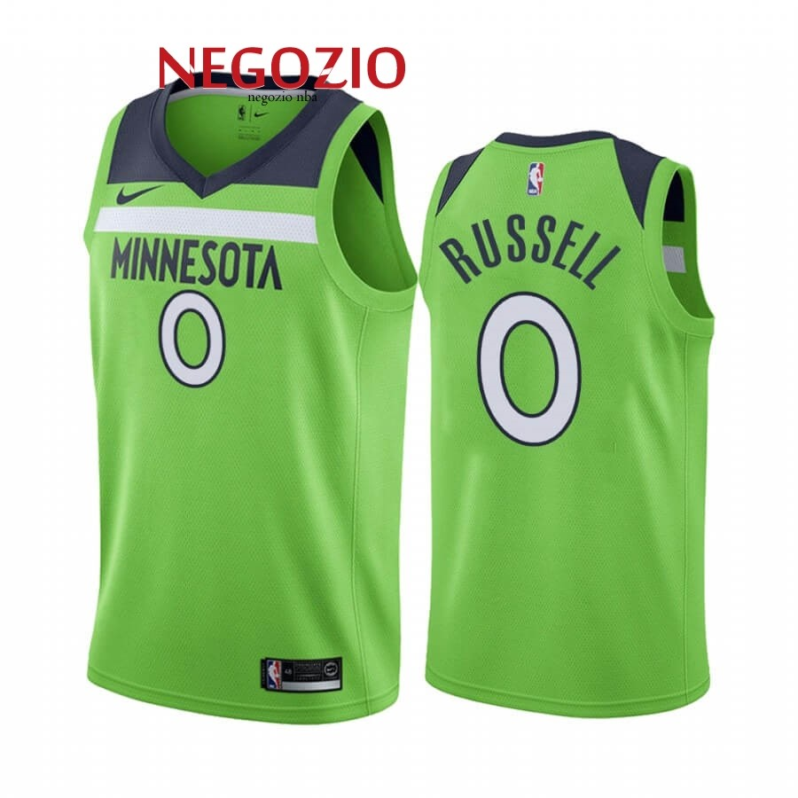 Migliori Maglia NBA Nike Minnesota Timberwolves NO.0 D'angelo Russell Verde Statement 2019-20