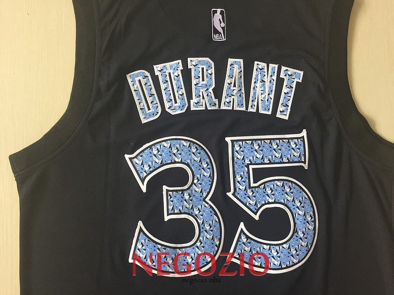 a560cd381a87 ... Migliori Maglia NBA Golden State Warriors NO.35 Kevin Durant Nero  Diamante ...